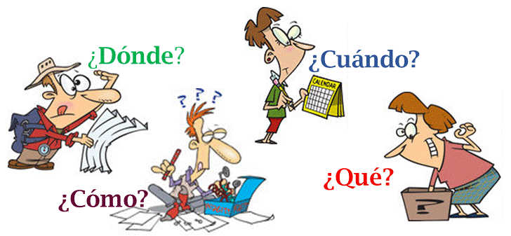 Spanish questions words