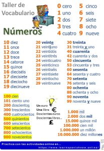 Numbers in Spanish. Learn vocabulary with quizzes