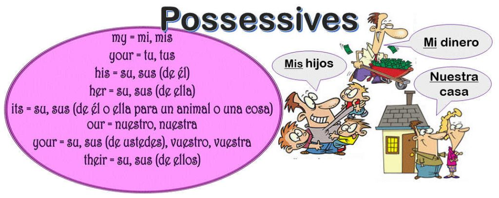 Learn to use the POSSESSIVE ADJECTIVES in Spanish