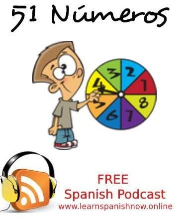 Spanish podcast números
