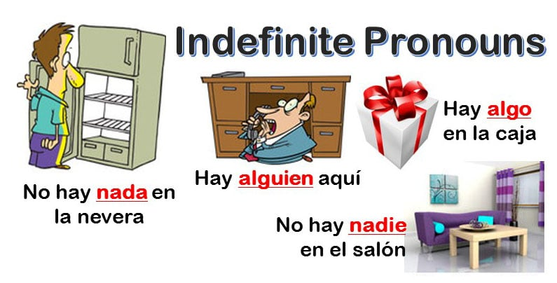 Indefinite pronouns in Spanish