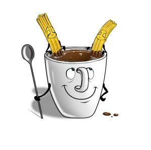 Breakfast in Spanish: chocolate con churros