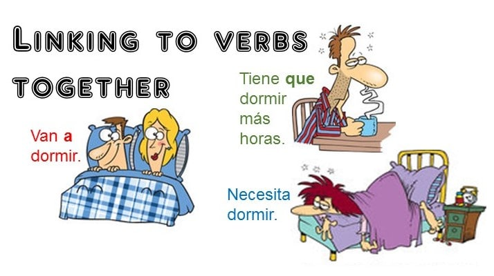 Linking two verbs together in Spanish