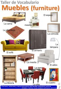 Furniture in Spanish Vocabulary