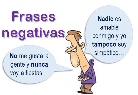 Spanish negative sentences