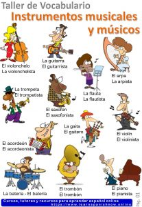 Musical instruments in Spanish
