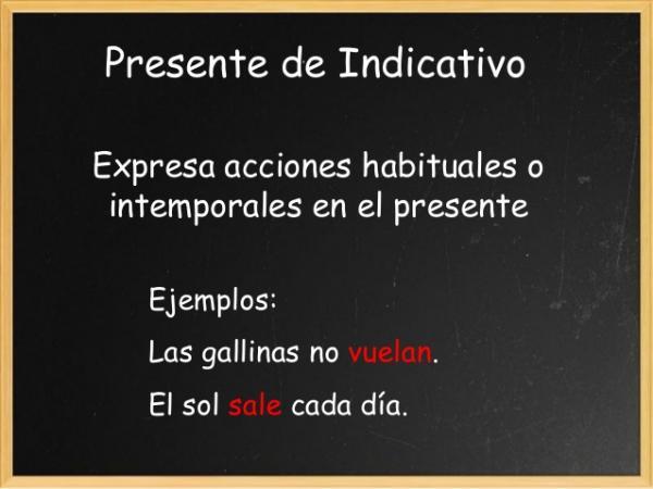 Present tense in Spanish