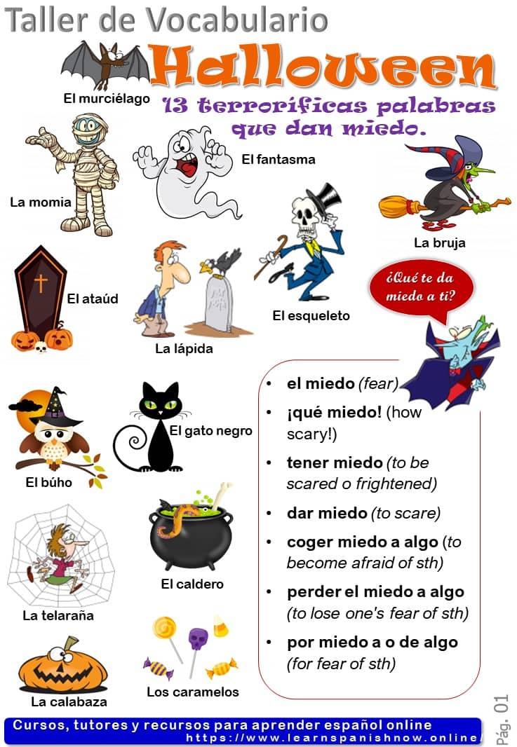 Vocabulario de Halloween en español