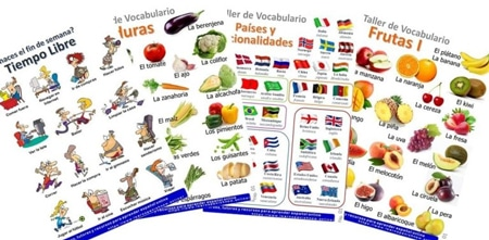 Infographics with Spanish Vocabulary
