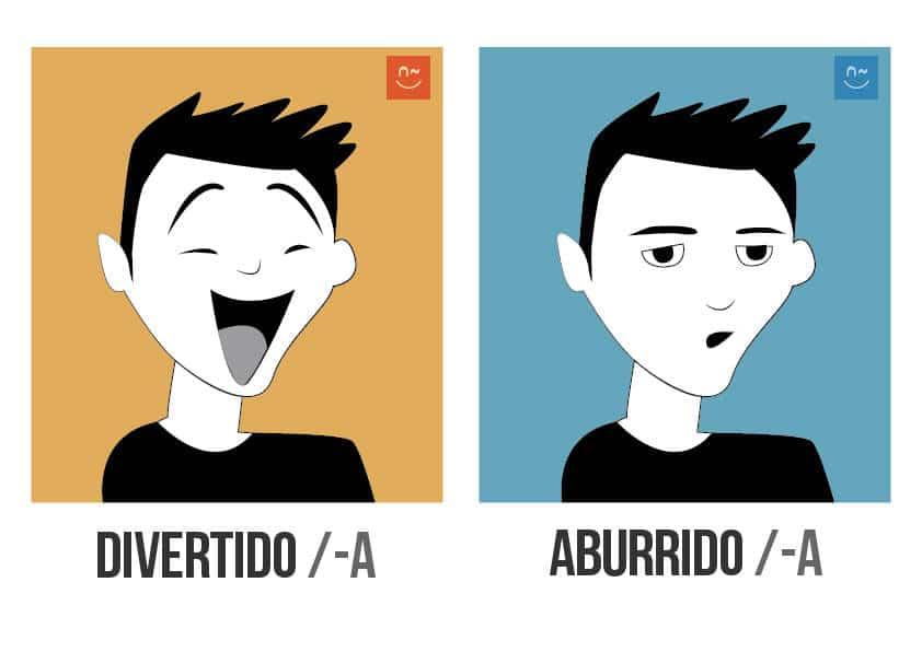 Aprende español con juegos de adjetivos