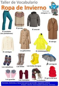 Spanish clothes in Spanish